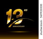 13 years golden anniversary...   Shutterstock .eps vector #569920330
