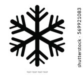 vector snowflakes set for... | Shutterstock .eps vector #569921083