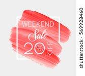 sale weekend 20  off sign over... | Shutterstock .eps vector #569928460
