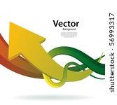 arrow business background | Shutterstock .eps vector #56993317