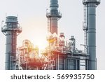 glow light of petrochemical... | Shutterstock . vector #569935750