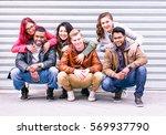 happy multiracial group of best ...   Shutterstock . vector #569937790