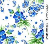 watercolor seamless pattern... | Shutterstock . vector #569939830