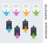 numbers banner vector template  ... | Shutterstock .eps vector #569942740