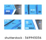 multicolored flat banners set.... | Shutterstock .eps vector #569945056