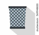 wire metal bin icon. flat...   Shutterstock .eps vector #569948830