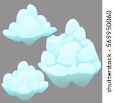 a set of icebergs isolated on... | Shutterstock .eps vector #569950060
