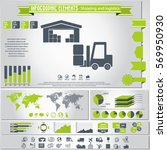 transportation and logistics... | Shutterstock .eps vector #569950930