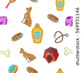 doggy pattern. cartoon... | Shutterstock .eps vector #569951146