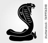 snake cobra  icon on a white... | Shutterstock .eps vector #569956348
