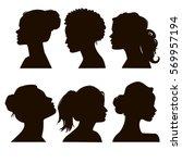 women's elegant silhouettes... | Shutterstock .eps vector #569957194