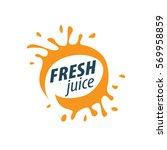 juice splash vector sign | Shutterstock .eps vector #569958859