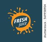 juice splash vector sign | Shutterstock .eps vector #569958904