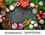 fresh vegetables  chili  onion  ... | Shutterstock . vector #569959369