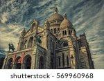 sacre coeur basilica in... | Shutterstock . vector #569960968