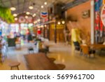 the retro coffee shop blur for... | Shutterstock . vector #569961700