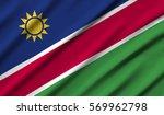 namibia waving flag | Shutterstock . vector #569962798