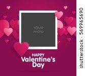 postcard happy valentines day...   Shutterstock .eps vector #569965690