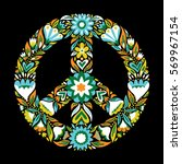 peace sign pacifism symbol... | Shutterstock .eps vector #569967154