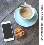 coffee break | Shutterstock . vector #569967388