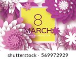 8 march. happy mother's day.... | Shutterstock .eps vector #569972929