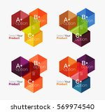 set of abstract geometric... | Shutterstock .eps vector #569974540