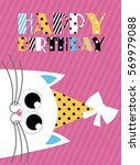 cute creative cards templates... | Shutterstock .eps vector #569979088