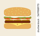 classic hamburger isolated on...