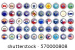 set of icons. states of the usa ... | Shutterstock .eps vector #570000808