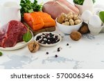 high protein food. healthy... | Shutterstock . vector #570006346