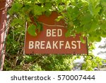 a bed and breakfast  hanging... | Shutterstock . vector #570007444