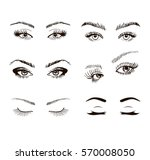 Set Of Different Female Eyes...