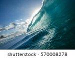 vibran ocean wave barrel for...   Shutterstock . vector #570008278