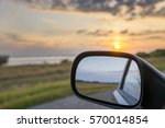sunset landscape reflected in... | Shutterstock . vector #570014854