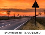 Street in Germany at Sunset on a Winter Day, Apensen, Lower Saxony, Buxtehude, Germany. 4