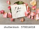 "note ""i love you"" with... 