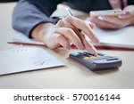 close view of a business woman... | Shutterstock . vector #570016144