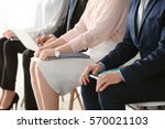 group of people waiting for job ... | Shutterstock . vector #570021103