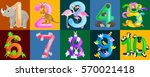 set of ordinal numbers for... | Shutterstock .eps vector #570021418