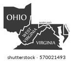 ohio   west virginia   virginia ... | Shutterstock .eps vector #570021493