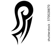 tattoo tribal vector design... | Shutterstock .eps vector #570028870