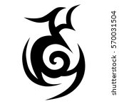 tribal tattoos design element.... | Shutterstock .eps vector #570031504
