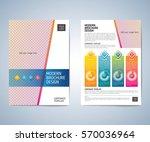 business brochure flyer design...   Shutterstock .eps vector #570036964