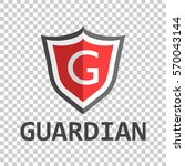 red shield logo. vector... | Shutterstock .eps vector #570043144