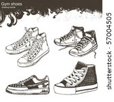 drawing hands   sport shoes | Shutterstock .eps vector #57004505