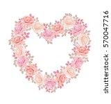 Tender Color Pink Rose Bouquet...