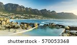 panorama of camps bay in south... | Shutterstock . vector #570053368