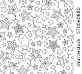 seamless pattern with outline... | Shutterstock . vector #570060880