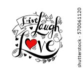 Live  Laugh  Love Postcard.