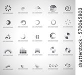 air conditioner icons set... | Shutterstock .eps vector #570065803